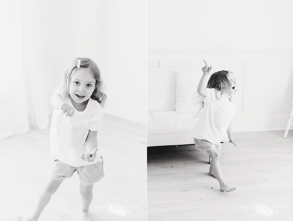 niagara family photography young girl dancing in studio