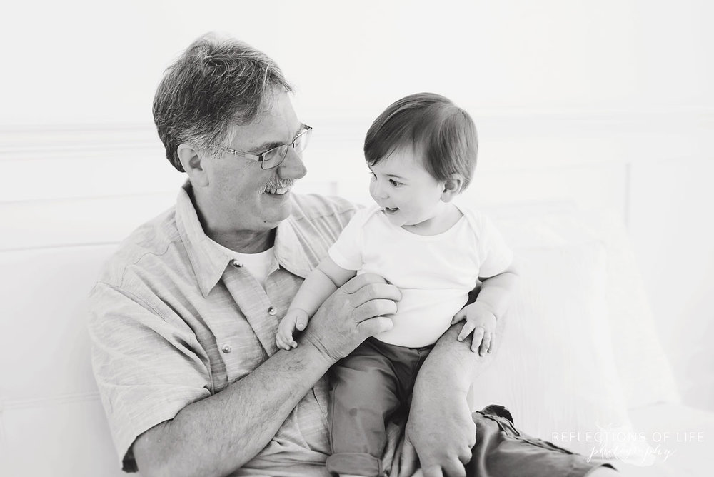 black and white photography grandpa and grandson