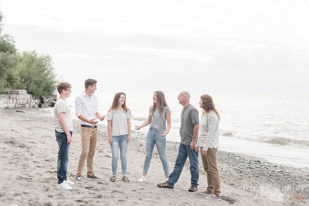 Candid family photos in Grimsby Ontario Canada