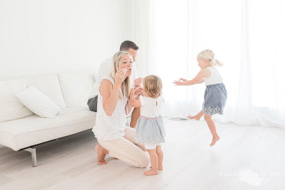 family photographer in white studio Grimsby Ontario