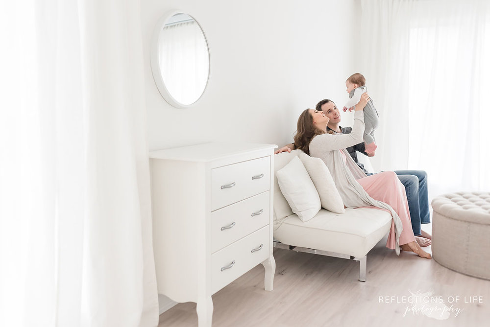 family in white studio grimsby