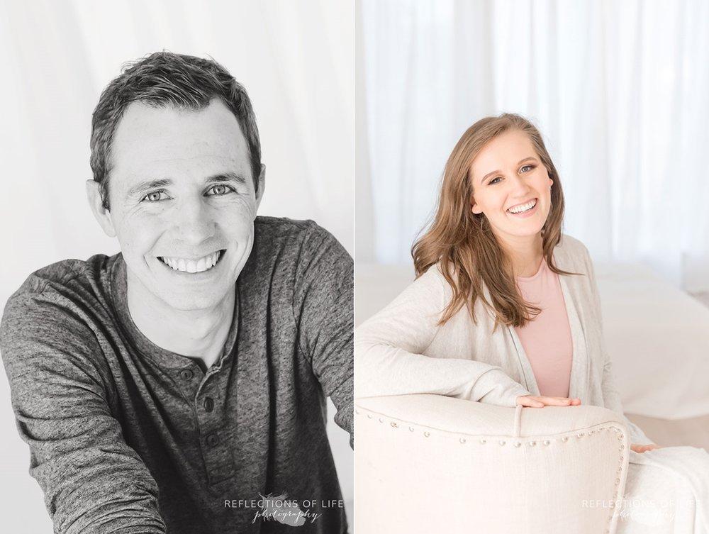husband and wife vertical portraits