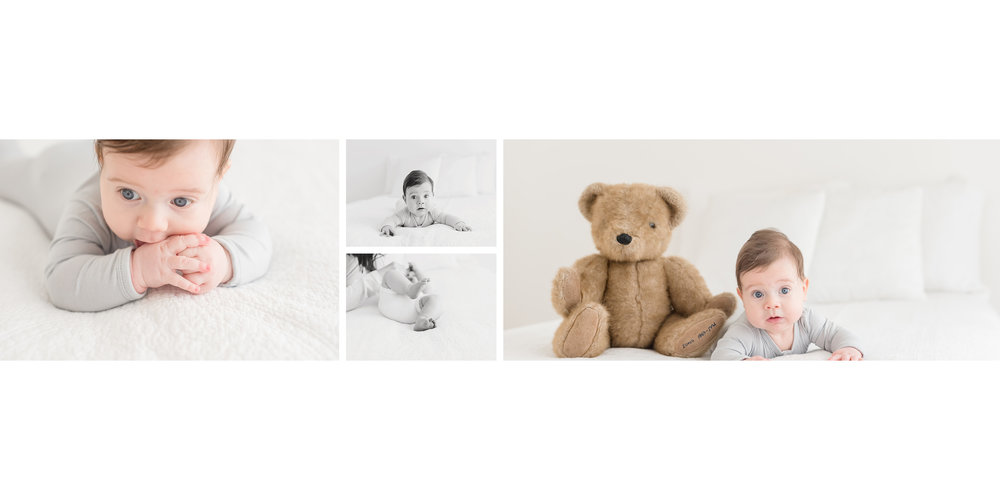 baby and teddy bear album page