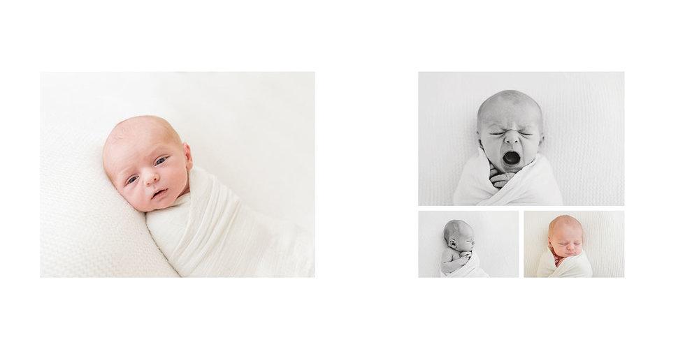 newborn photos in an album form 06