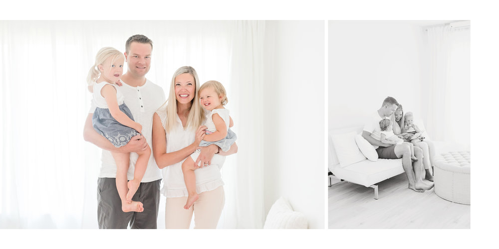 Family of four in grimsby white studio