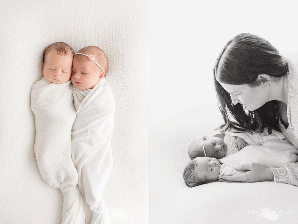 mama and her twins