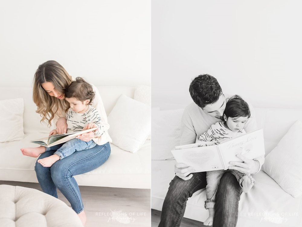 parents reading to child