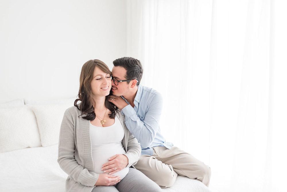 husband telling wife a secret