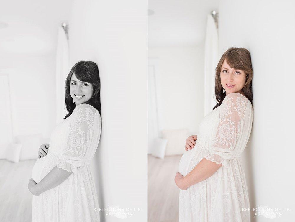 maternity photography white studio niagara