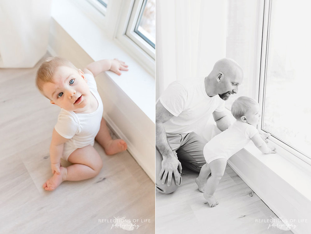 Copy of Copy of Baby boy by natural window light