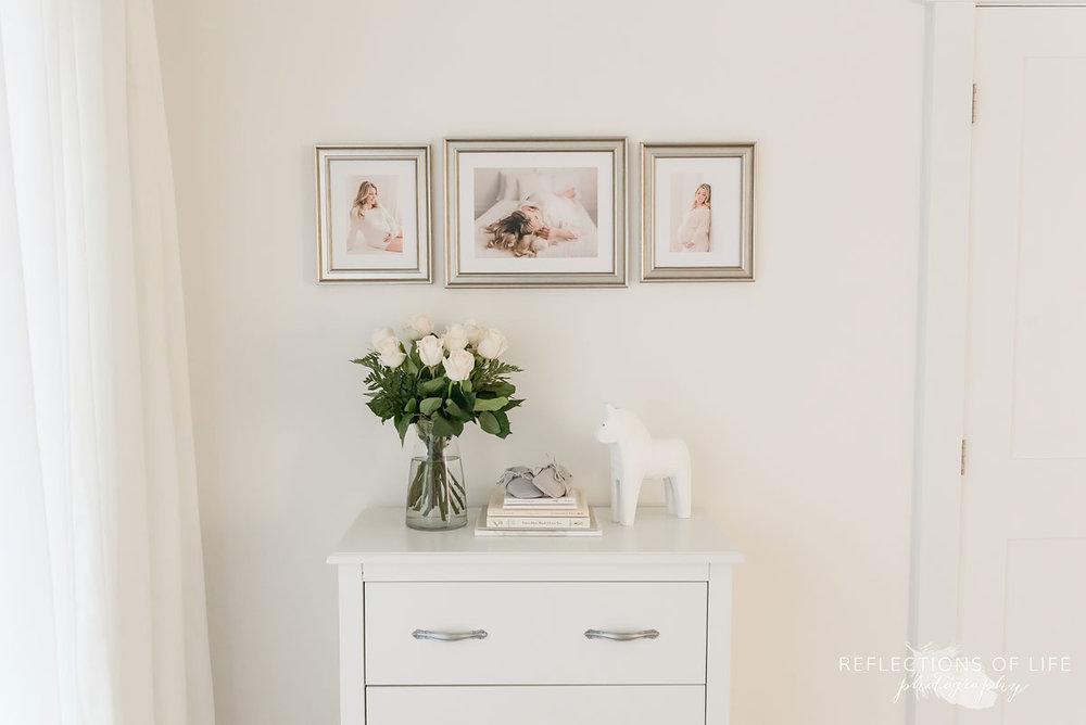 Framed maternity prints in custom frames