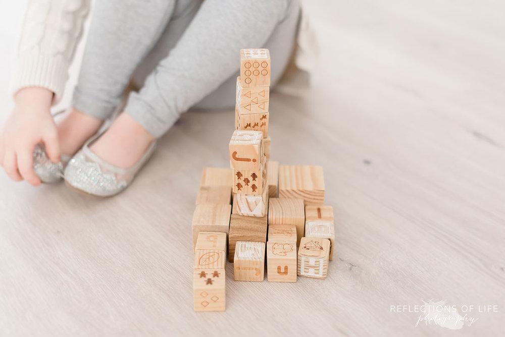Little girls block creation in Grimsby