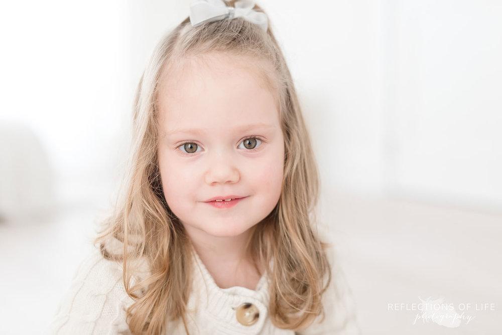 Cute little girl close up in Niagara