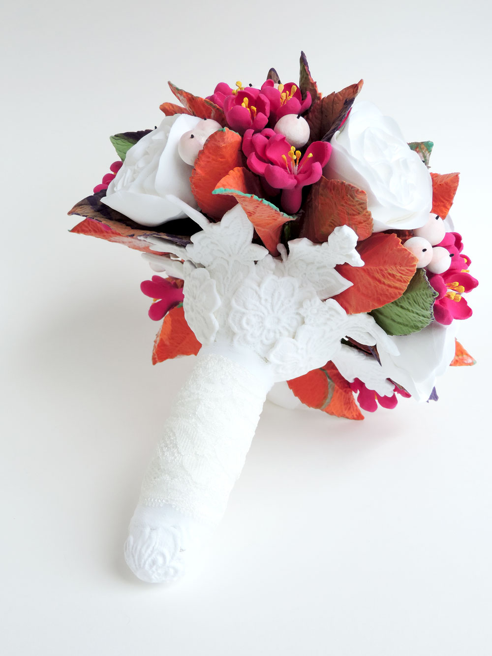 clay lace bouquet wrap