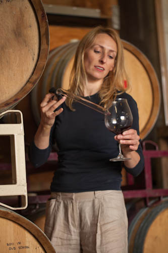 Pam with barrels.jpg
