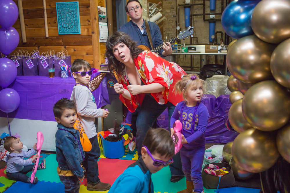 Stomp, Shout, Rock n' Roll! - Stomp and Shout performers come to you with instruments - shakers, drums, bells, the works - and lead a 40 minute imaginative musical event! Our events are high energy and super engaging. From dance parties, to jam sessions with our monster drums, to a special singing story time...each moment of the event is a one-of-a-kind imaginative-musical adventure!