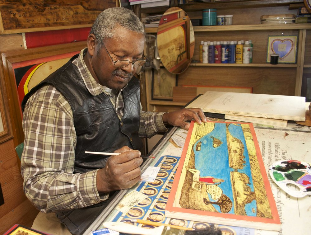 Rev. Johnnie Simmons | Gullah Woodburning