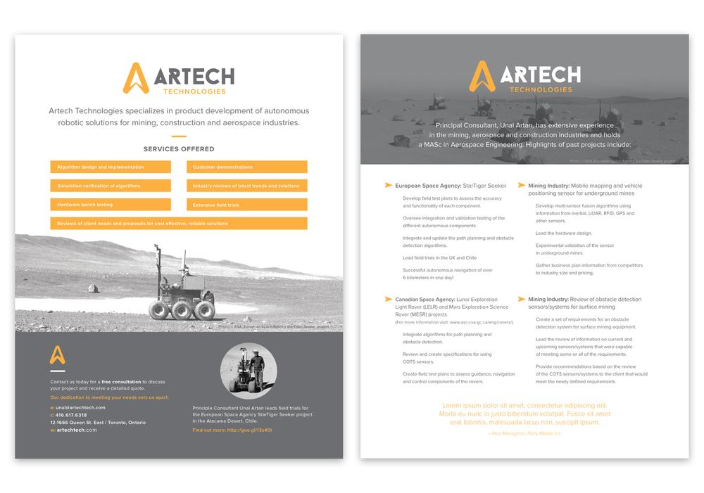 sell sheet  Artech Sell Sheet — Elaine Ng