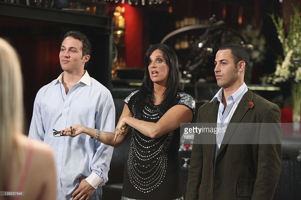 "Omar pictured right on ""Millionaire Matchmaker"" with Patti Stanger"