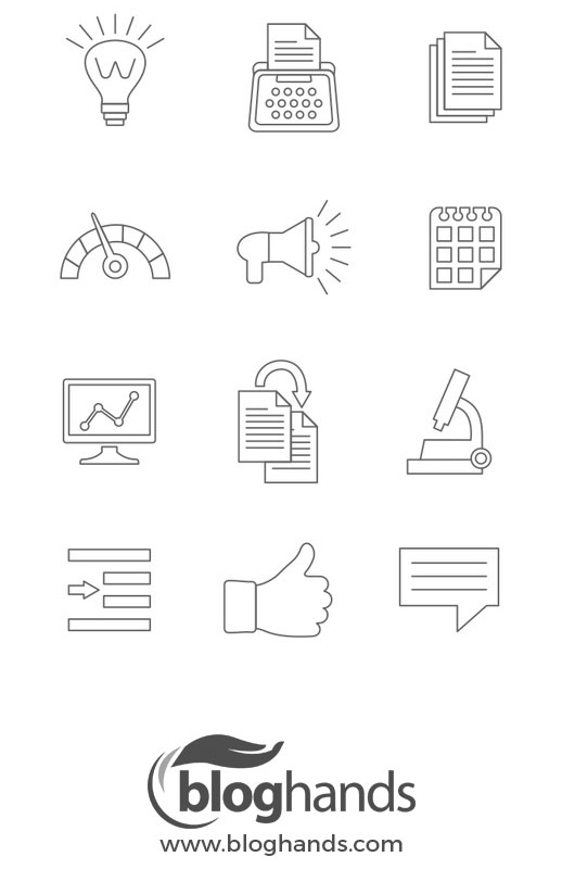 Free Blogging Icon Set