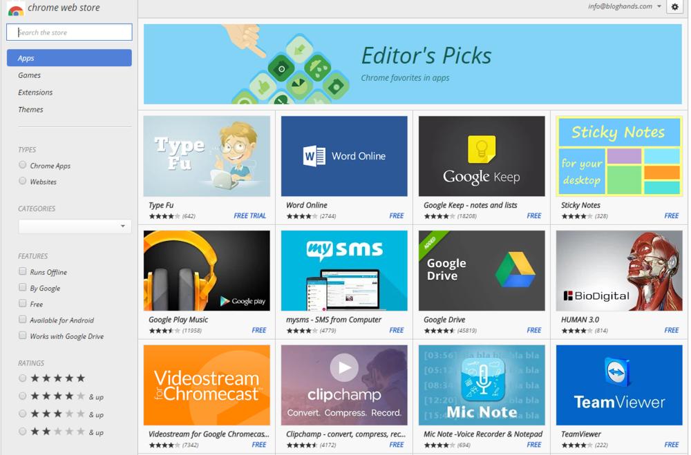 Chromebook Web Store