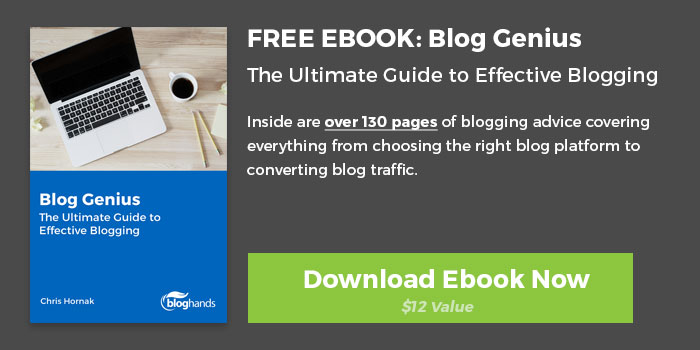 blogging ebook cta