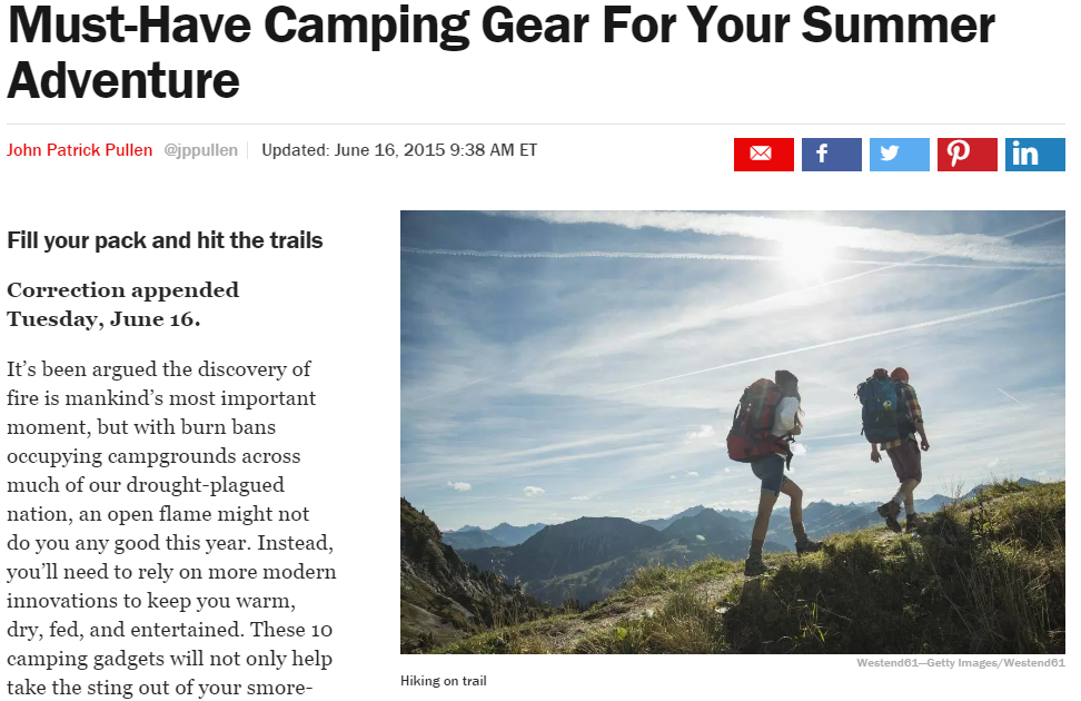 Time Camping Article