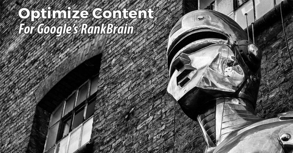 optimize content for Google's RankBrain