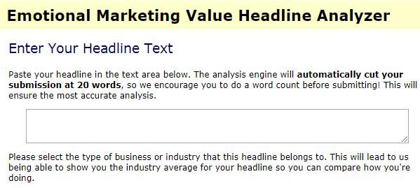 Emotional Marketing Value Headline Analyzer