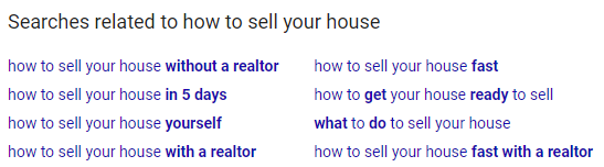 Google Related Searches Topic Ideas