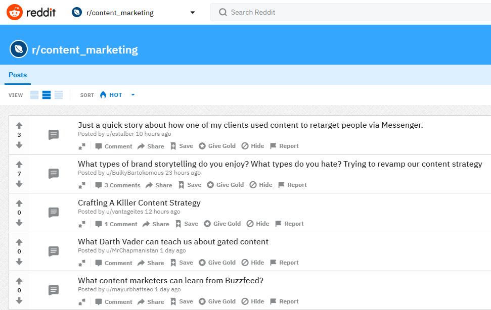 Reddit as a social listening tool.