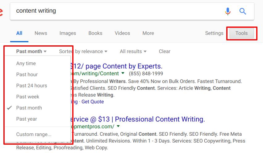 Google Fresh Index