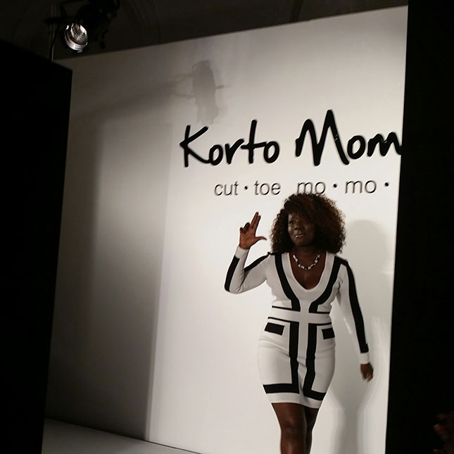 Korto Momolu gives a shout out to Little Rock as she closes the show