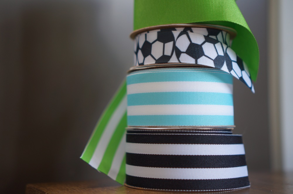 Wide ribbon is great for a snug belt fit, and you can use the leftovers for wrapping gifts.