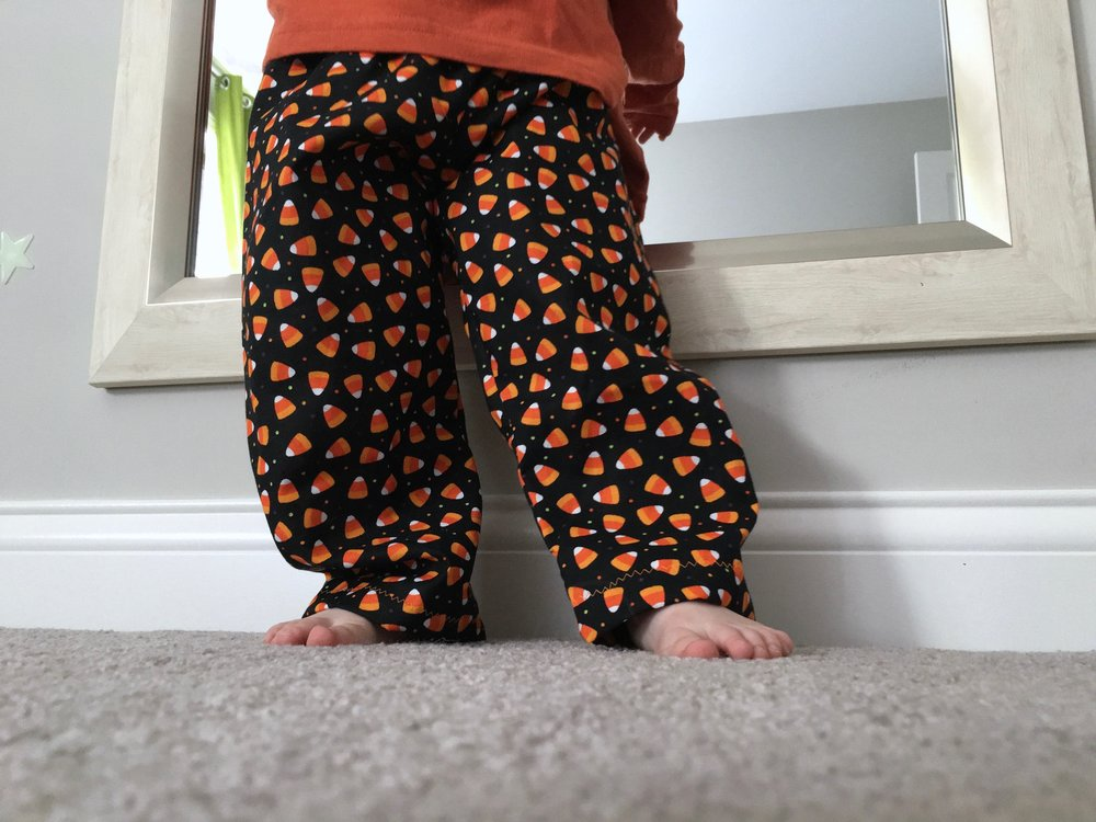 Sweet dreams: candy corn pants.