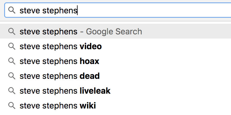 What do these search suggestions say about us?