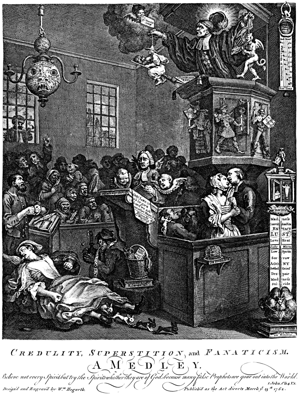 bunnies, bunnies, it must be bunnies. Or correlation. |   Mary Toft and Her Extraordinary Delivery of Rabbits.
