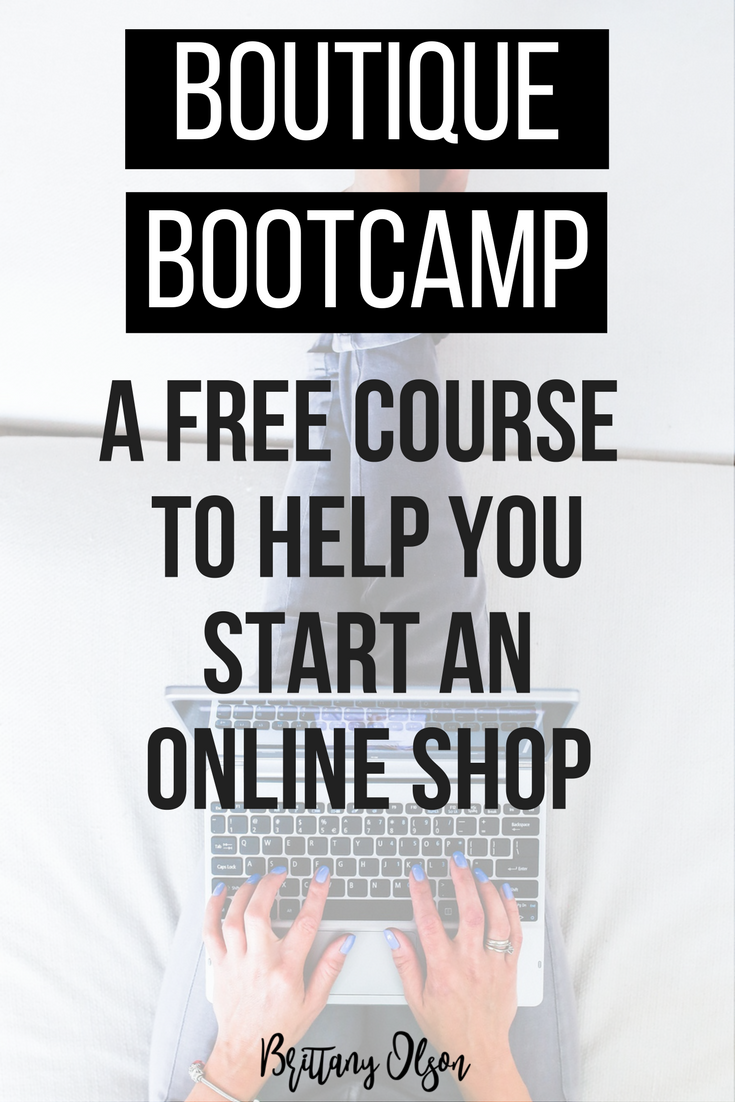 Boutique Bootcamp shop launch challenge - start a boutique online course email series challenge. 14 day challenge to purchase wholesale inventory, identify your audience, and launch your website with shopify.