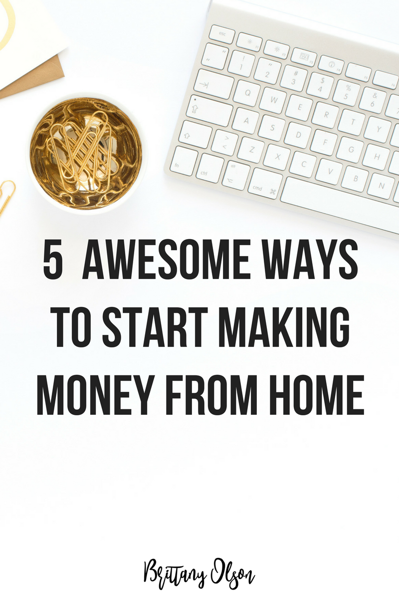 How to make money from home. Start a blog. Start an online shop boutique.