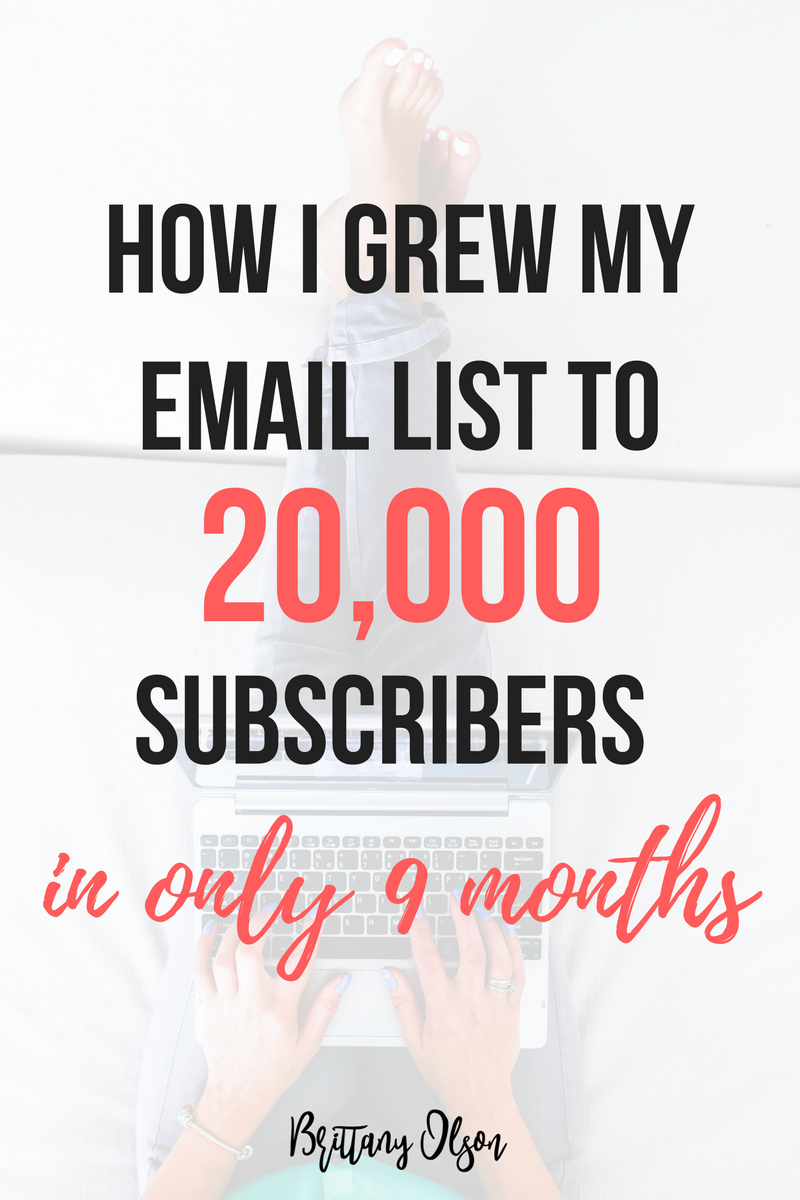 How to grow an email list for your blog. I use convetkit and highly recommend it. I grew my email list quickly- to 20,000 subscribers in only 9 months.