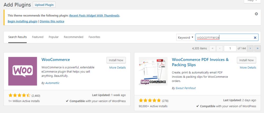 woocommerce plugin for wordpress