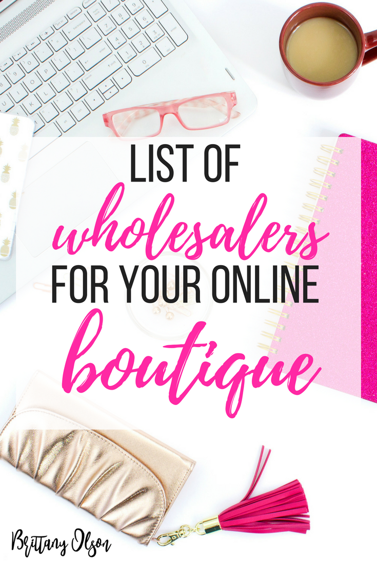 Download our list of boutique clothing wholesalers and find wholesale fashion clothing inventory for your online boutique.