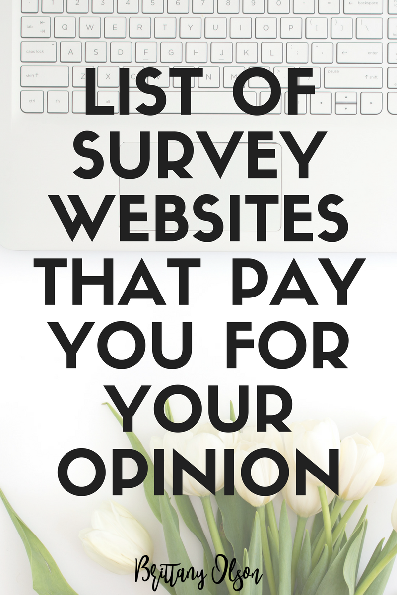Make money online by taking surveys and participating in consumer research