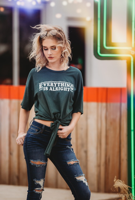 everything is alright boutique graphic tee