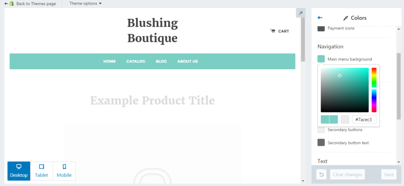 Customize boutique website