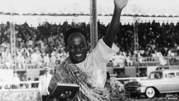 Kwame Nkrumah sworn in as Ghana's first President.  Photo credit: Getty Images