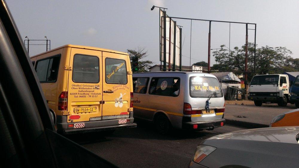 Ghanaian public minibuses, also known as tro-tro