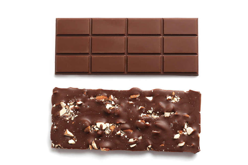 55 percent milk chocolate with almonds (50 grams)