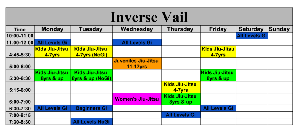 Inverse vail schedule