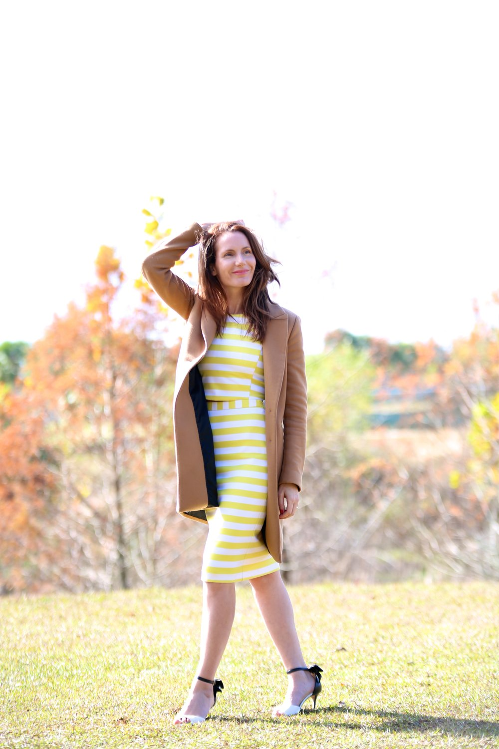 Wearing Patrizia Pepe Top and Skirt // Kate Spade shoes // Zara Coat  here  Photography by Drew in Tallahassee: https://www.instagram.com/drehowphotography/